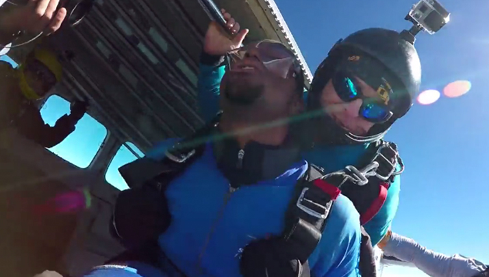 High School Recruit Jumps Out Of A Freaking Plane To Announce His Decision