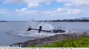 Sight-Seeing Tour Helicopter Crashes Nearby The USS Arizona Memorial