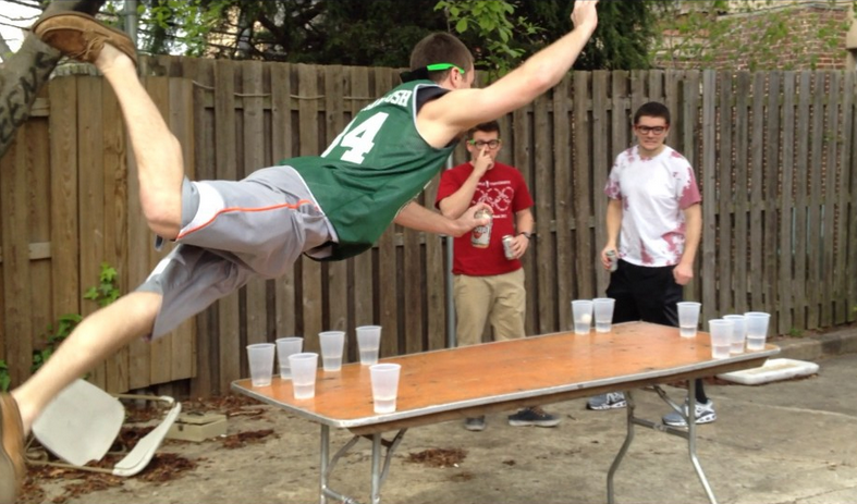 Was and Naked lap beer pong
