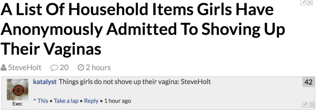 HA Steve Holt you virgin bitch.