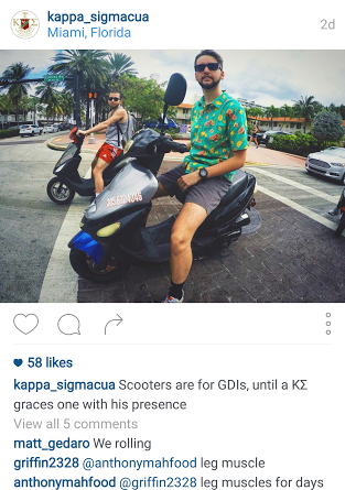 Silly fratter, scooters are for geeds.