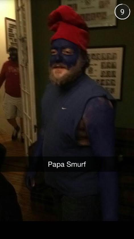 Papa Smurf is gonna get his dick wet.
