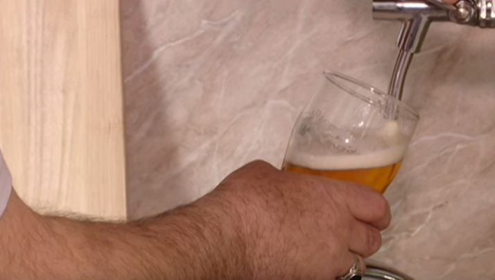 Genius Russian Man Uses Faucet To Dispense Beer Straight From Brewery