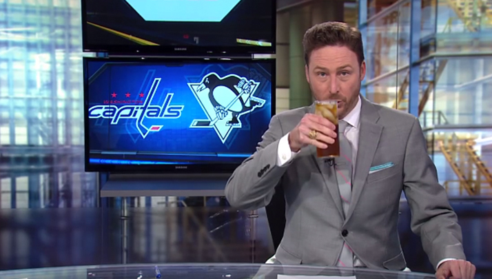 VIDEO- Washington Sports Anchor Chugs Drink, Tells Kids Dreams Aren't Real After Caps Loss