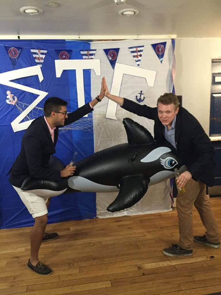 Tag-teaming an inflatable whale. TFM.