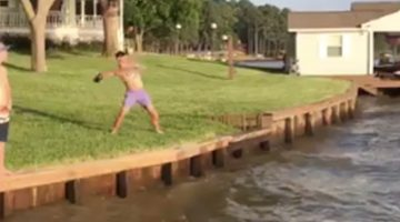 Big 12 QBs Celebrate Memorial Day By Throwing Footballs To Guys On Jet Skis