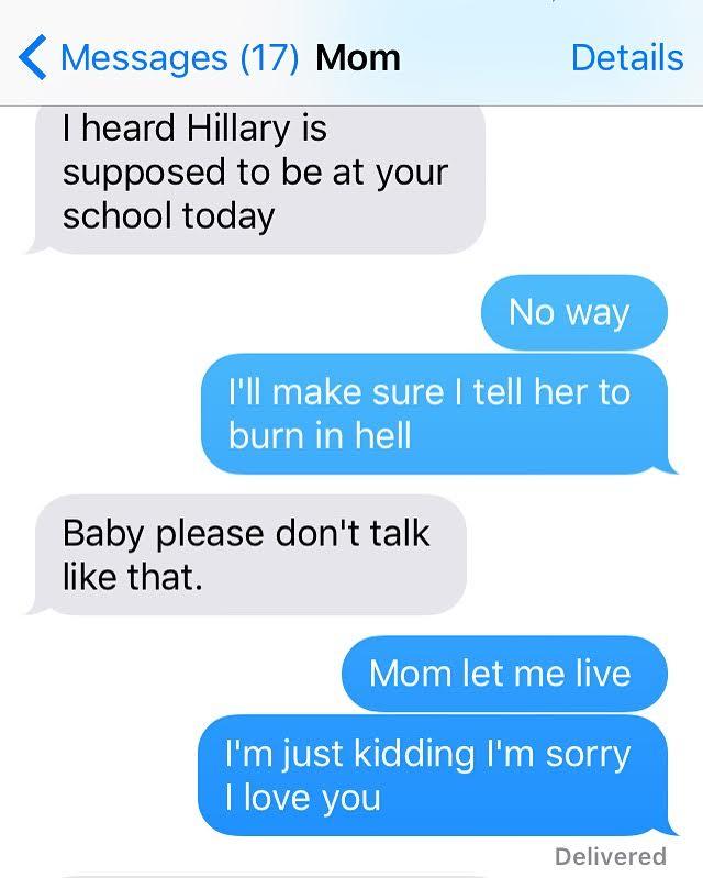 Mom let me live.