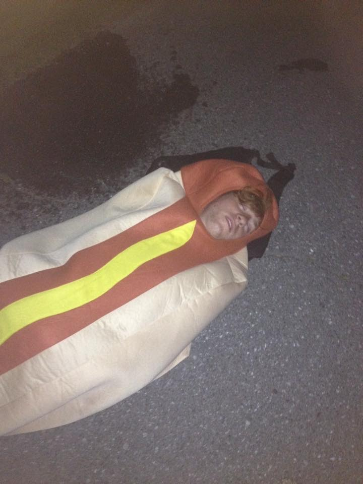 Hotdog down.