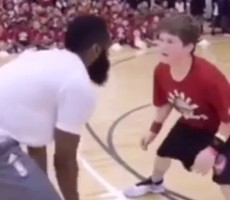 VIDEO- James Harden Ruins Chubby Kid's Future With Game Of One-On-One