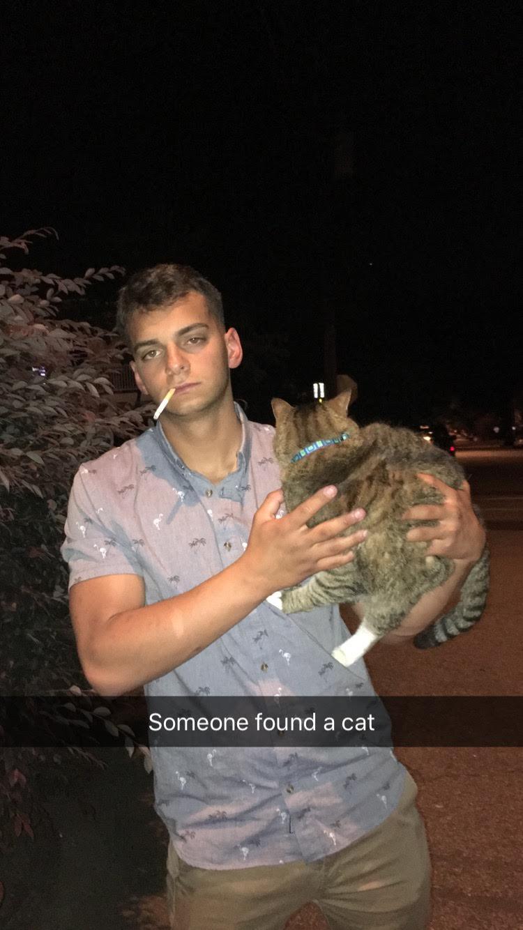 Free that feline, you monster.