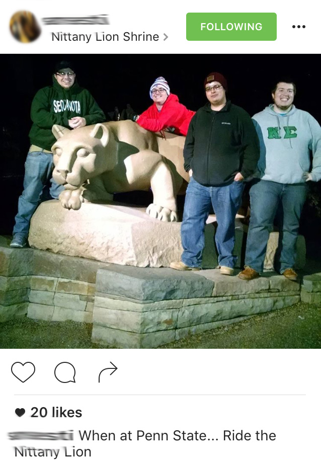Goobers invading Penn State.