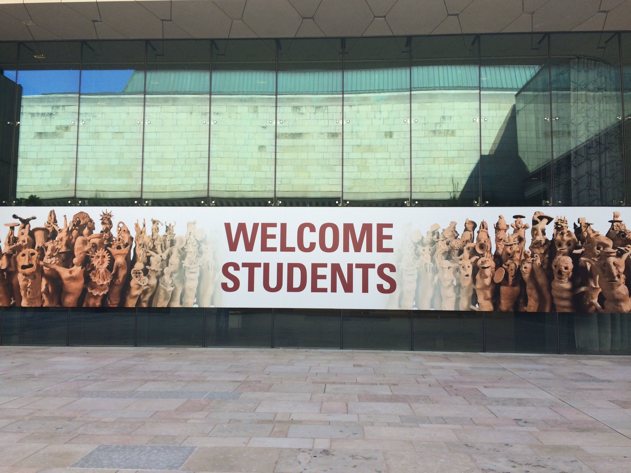 the university of wisconsin chazen art museum welcome week sign