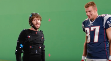 rob gronkowski and lil dicky face off