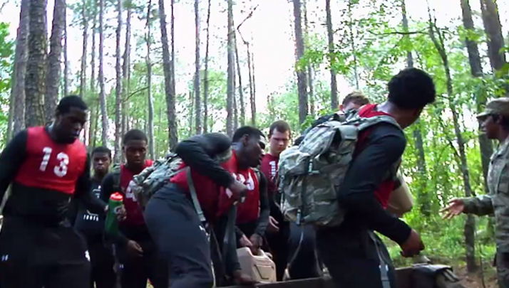 South Carolina Gamecocks Military Training