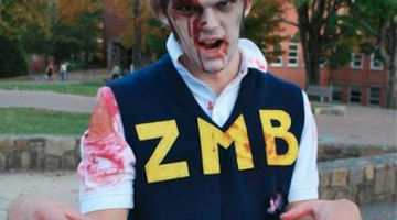 A Halloween costume of Austin Harrouff, the frat face-eater