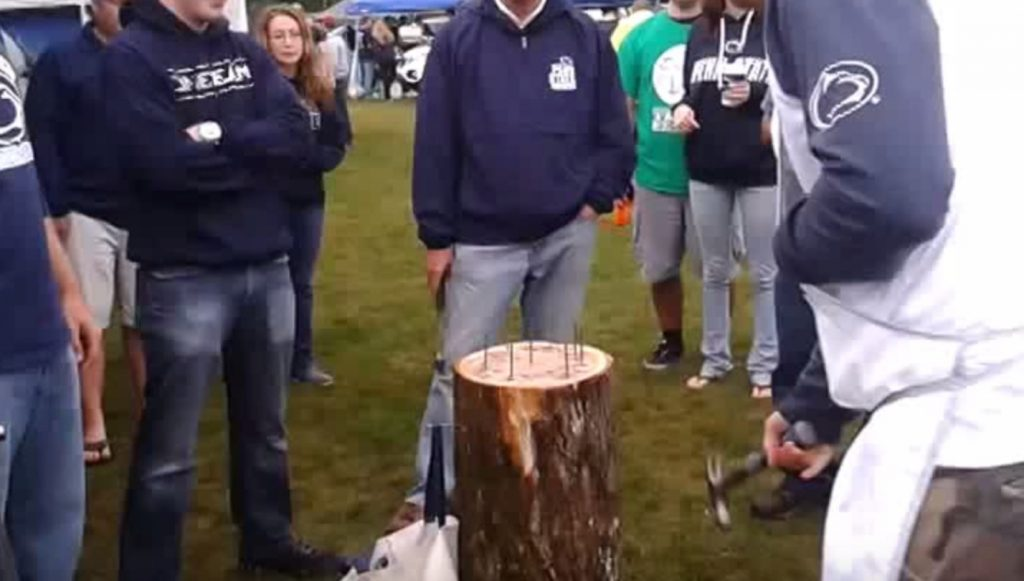 stump drinking game tailgate