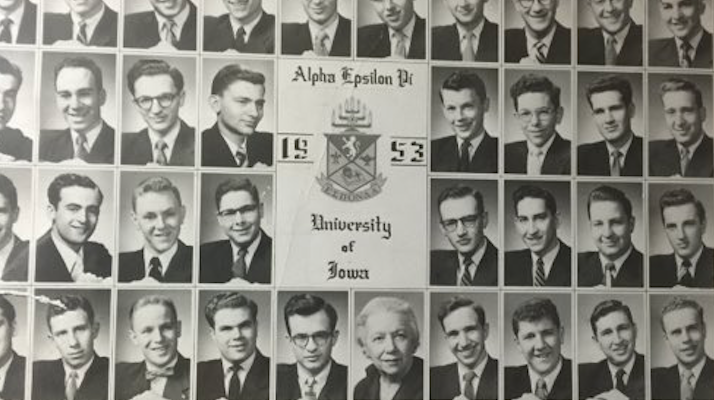 gene wilder fraternity composite from university of iowa aepi