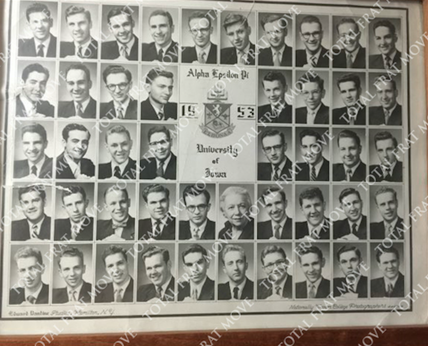gene wilder aepi composite photo iowa 1953