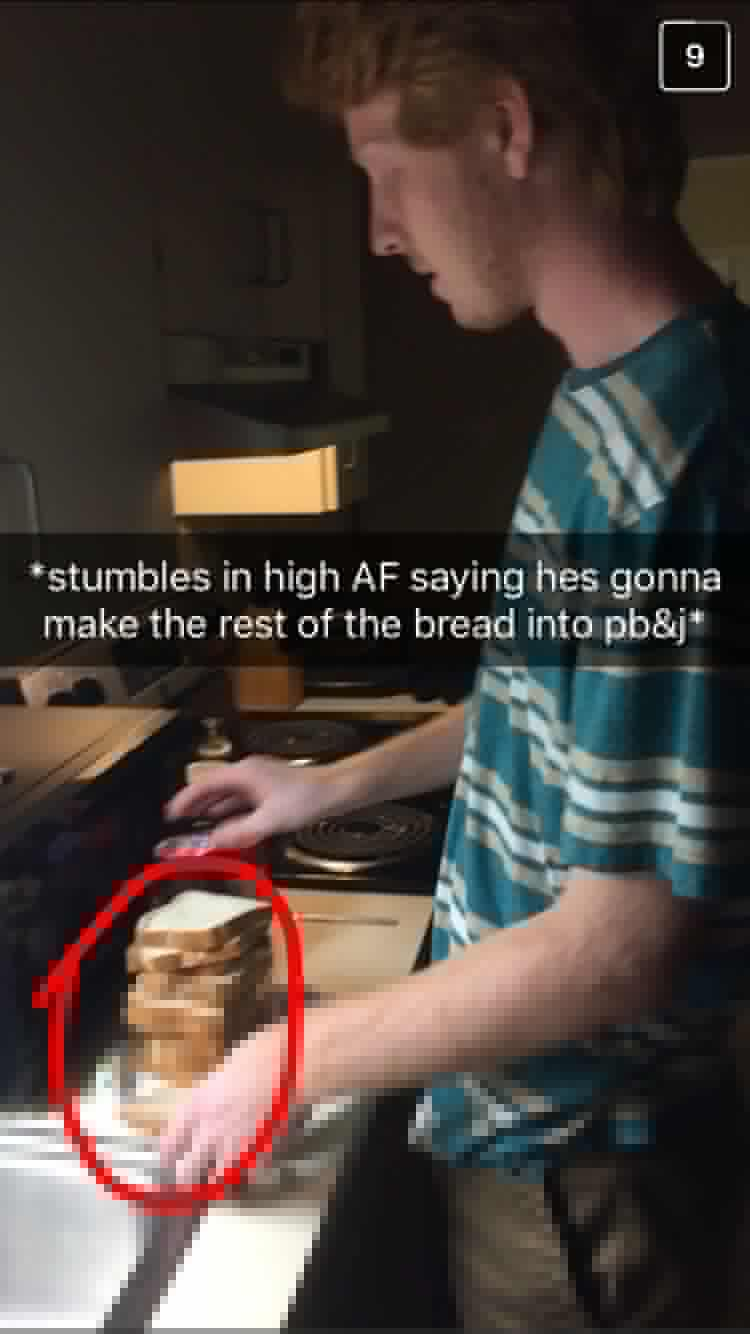 So high he needs 8 sandwiches.