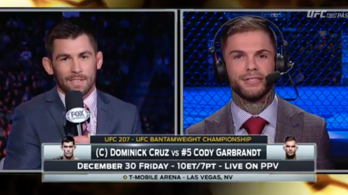 ufc cruz garbrandt trash talk