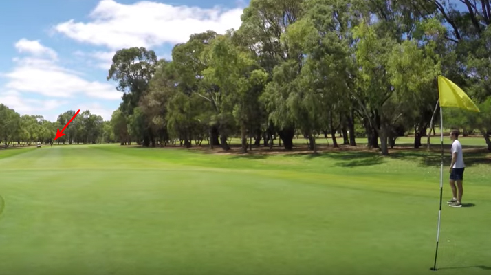 longest ever golf putt