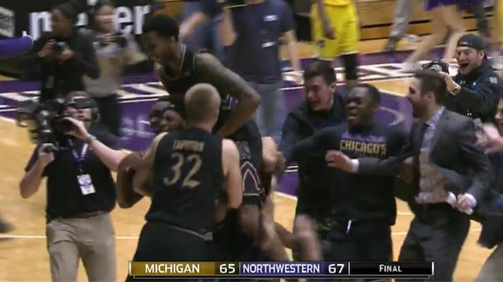 northwestern wildcats buzzer beater