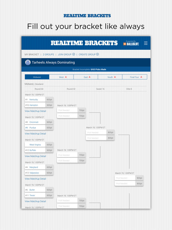 Fill Out Your Bracket Like Always