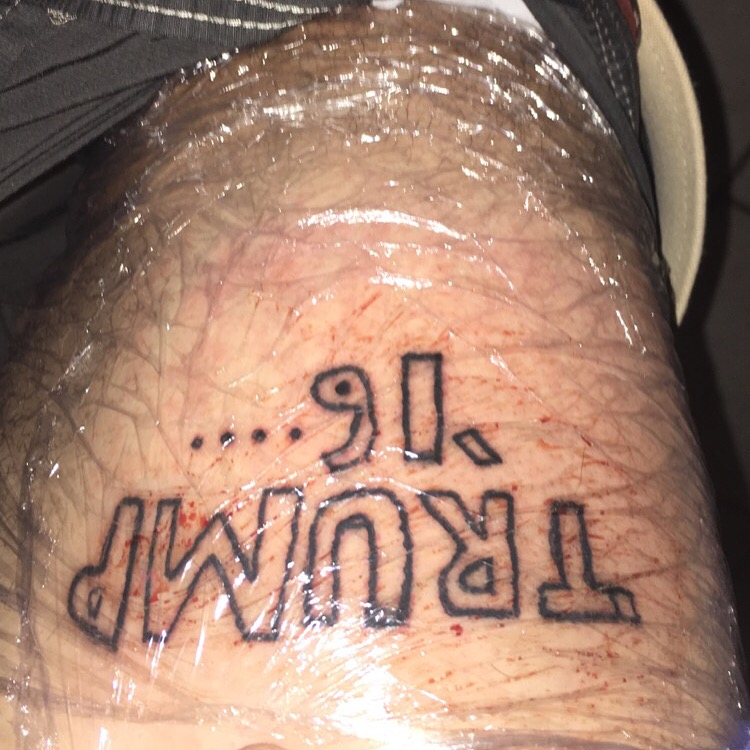 If this is a full-blown permanent tattoo, it might be the worst of all-time.