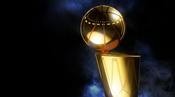 NBA finals trophy lebron steph