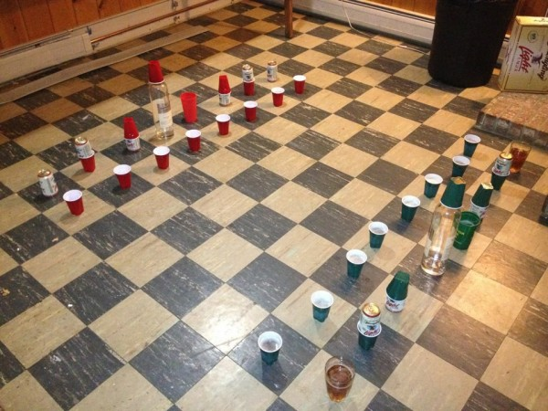 beer chess drinking game summer