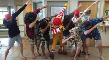 Ronald McDonald even hitting the dab.