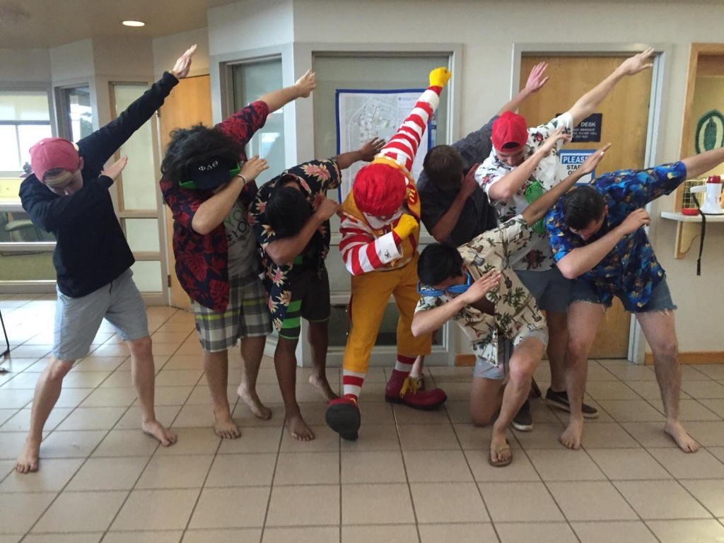 Ronald McDonald even hitting the dab.