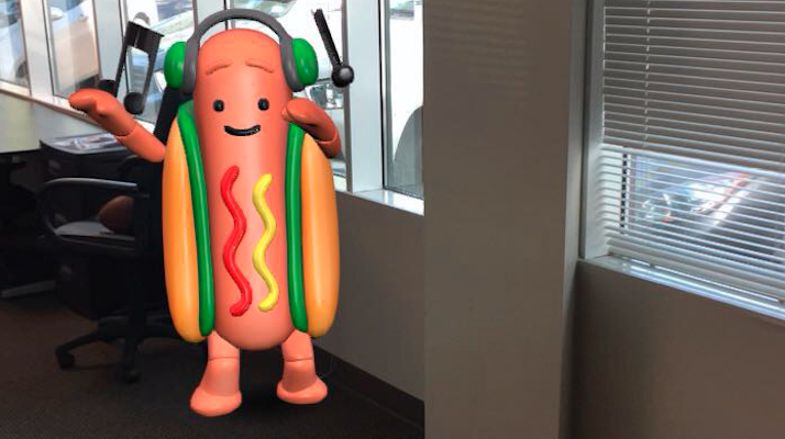 dancing hotdog snapchat