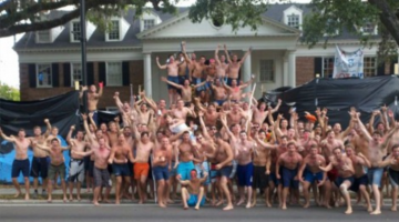 shirtless party