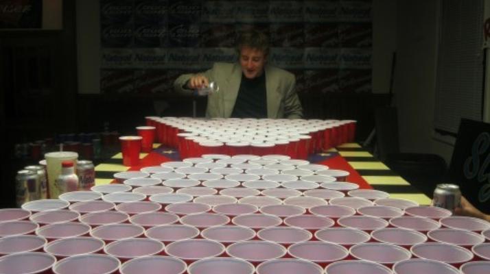 beer pong skills