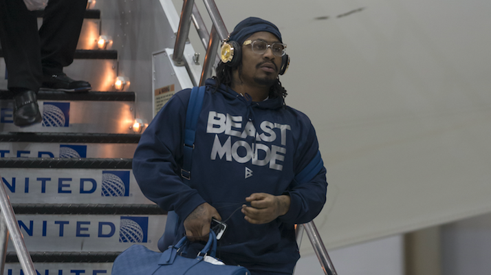 marshawn lynch here so I won't get fined
