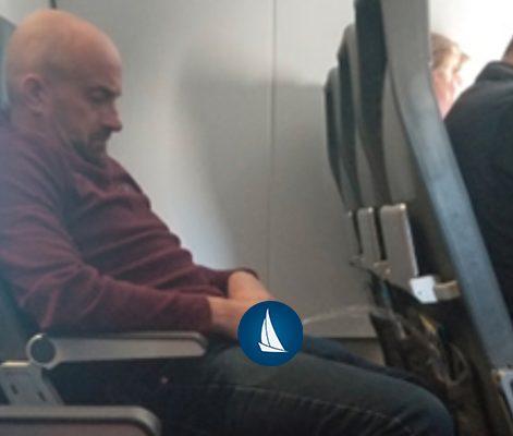 guy pee on flight