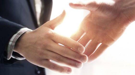 class professor handshake